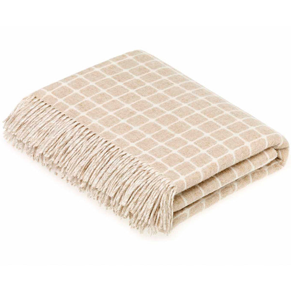 Bronte By Moon Athens Beige Lambswool Throw