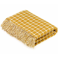Bronte By Moon Athens Gold Lambswool Throw