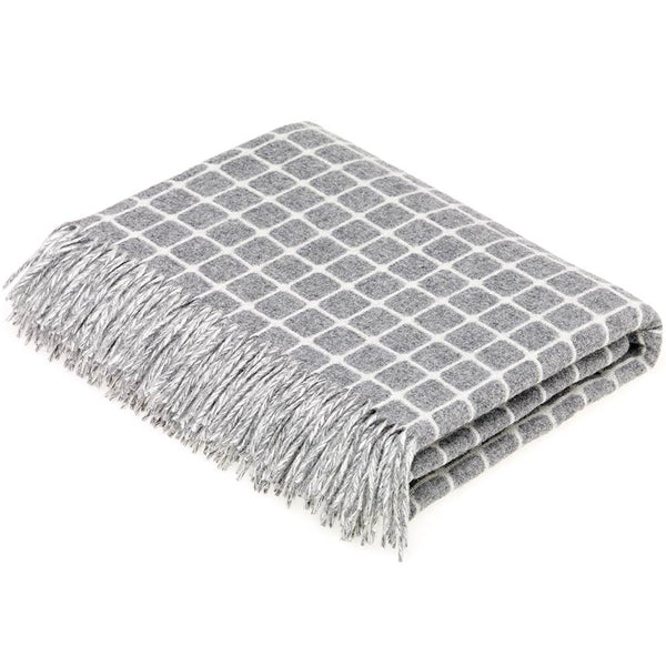 Bronte By Moon Athens Grey Lambswool Throw