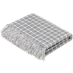 bronte by moon athens check grey throw
