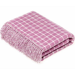Bronte By Moon Athens Lilac Lambswool Throw