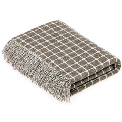 Bronte By Moon Athens Slate Lambswool Throw