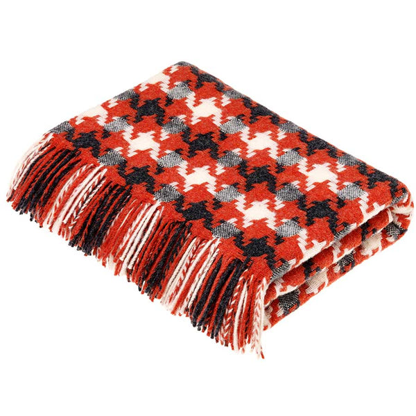 Bronte By Moon Houndstooth Coral Throw