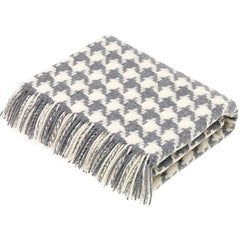Bronte by Moon Houndstooth Grey Throw