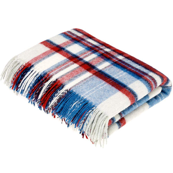 Bronte By Moon Lisbon Red Blue Throw