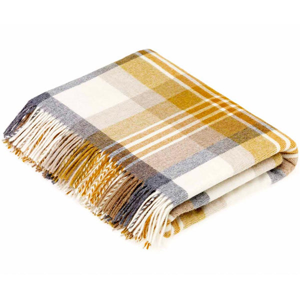 Bronte By Moon Melbourne Gold Merino Lambswool Throw