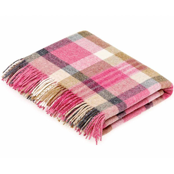 Bronte By Moon Melbourne Pink Natural Shetland Wool Throw