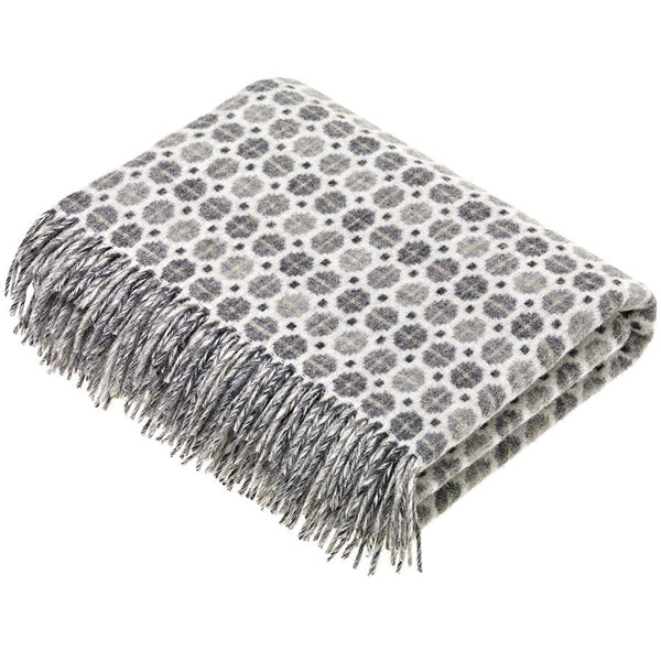 Bronte By Moon Milan Grey Lambswool Throw