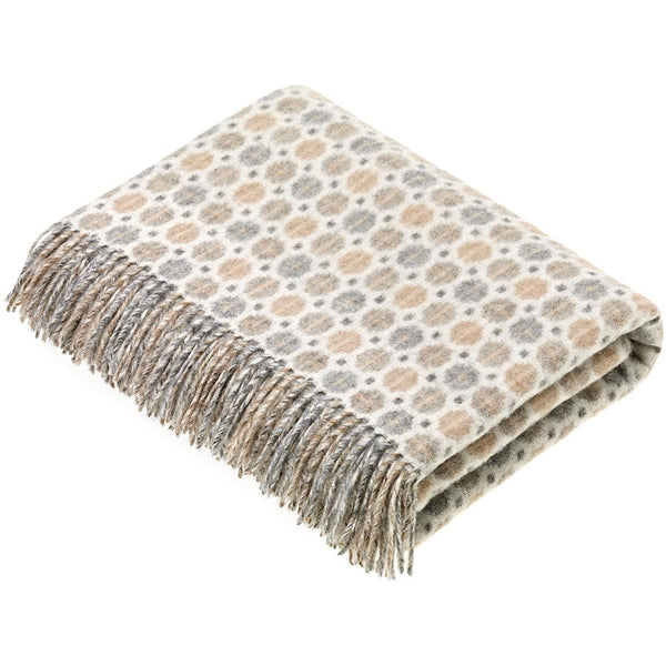 Bronte By Moon Milan Natural Lambswool Throw