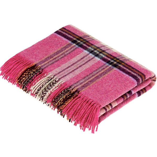 Bronte By Moon Prague Pink Pure New Wool Throw