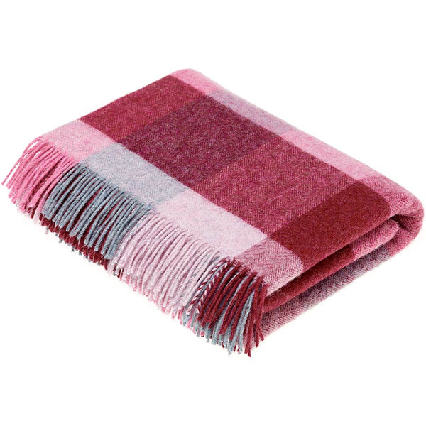 Bronte By Moon Rome Pink Aqua Shetland Wool Throw