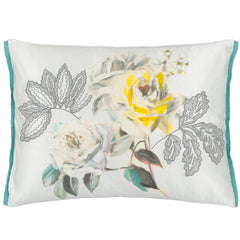 designers guild cushion camille platinum 60 x 45cm