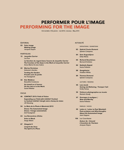 CIEL VARIABLE 96 - PERFORMER POUR L'IMAGE