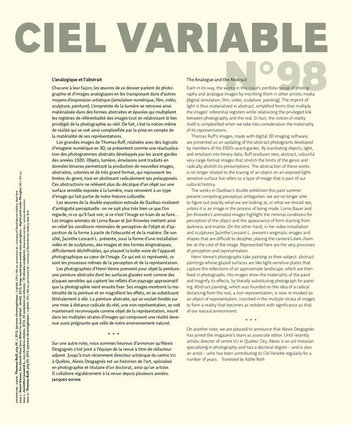 CV98 - Éditorial + Introduction