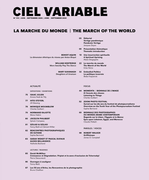 CIEL VARIABLE 115 - LA MARCHE DU MONDE