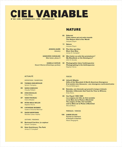 CV103 - Éditorial + Introduction