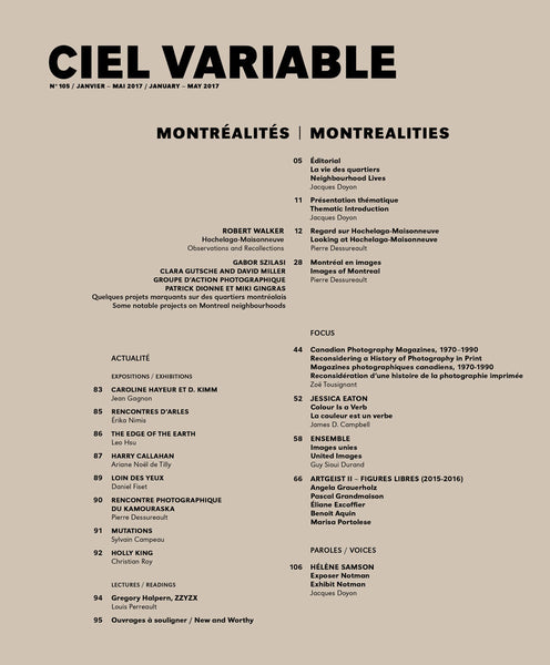 CV105 - Éditorial + Introduction