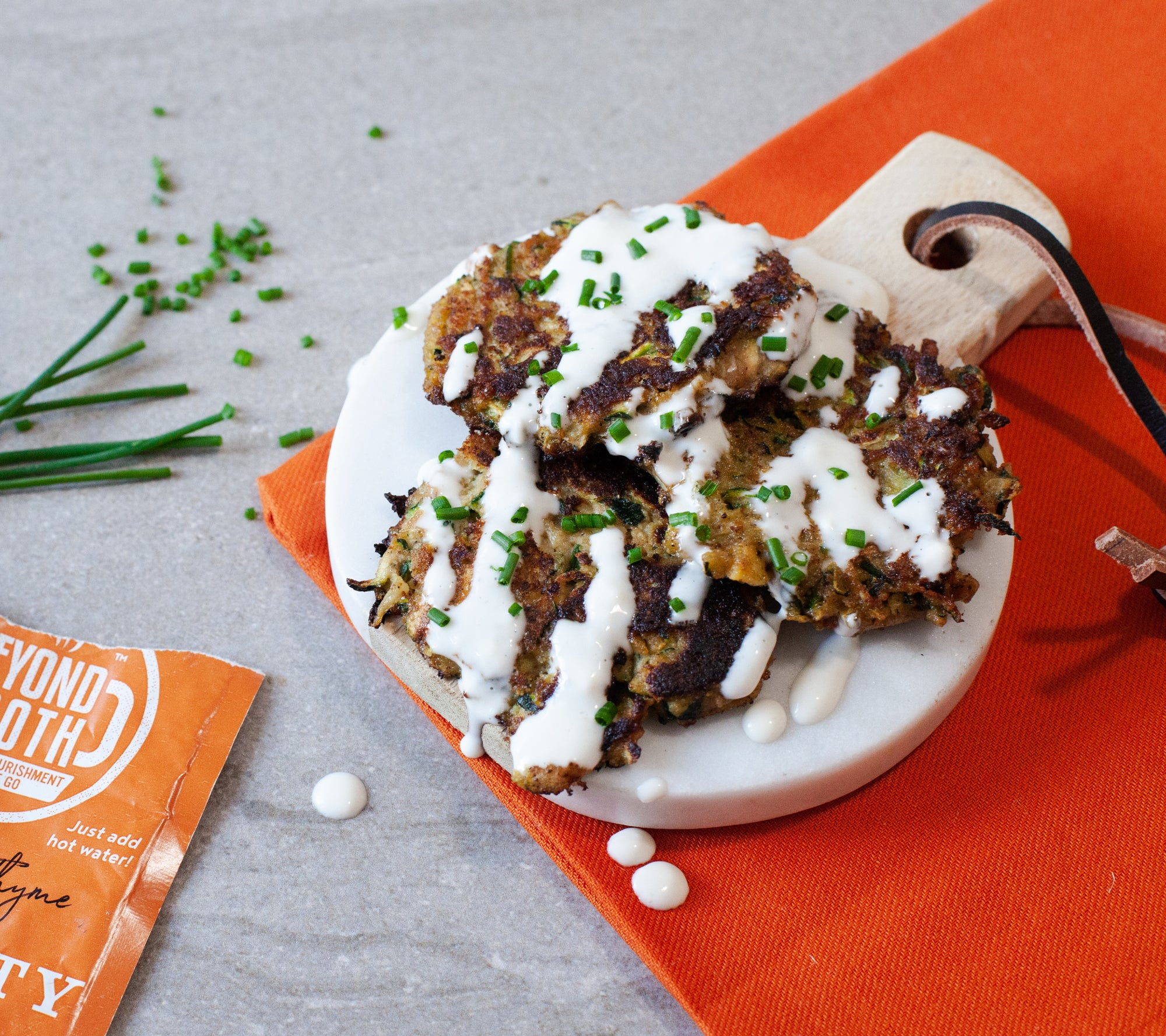 Vitality Zucchini Fritters with Aioli Sauce