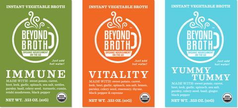 Beyond Broth's three blends: Immune, Vitality, and Yummy Tummy