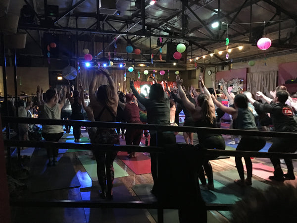 Yoga at Daybreaker Denver with Beyond Broth