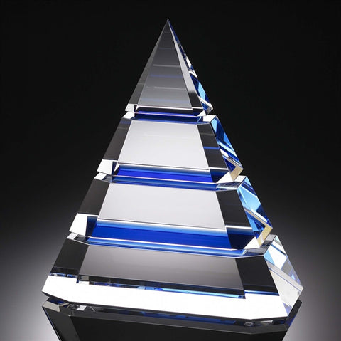 Sapphire Crystal Pyramid of Success