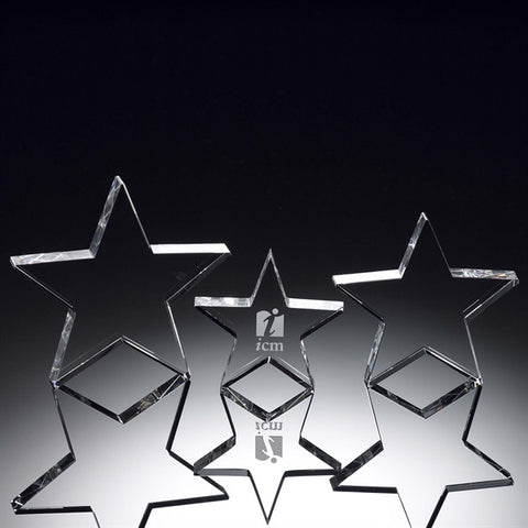 Standing Crystal Star Award