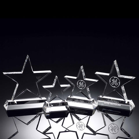 Standing Crystal Star Trophy
