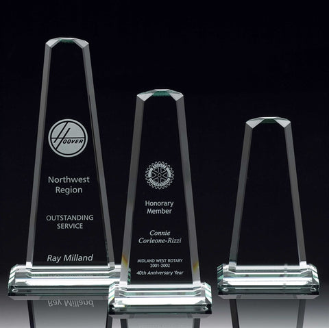 Glass Plaques and Awards | Custom Engraved Glass Trophies