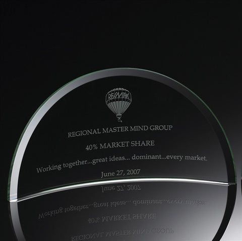 Vista Deluxe Jade Glass Award