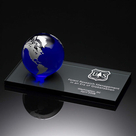 World of Thanks Award Blue & Silver