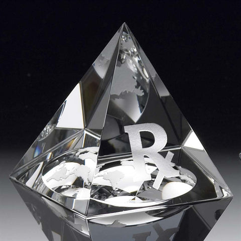 Pharaoh's Crystal World Pyramid Paperweight