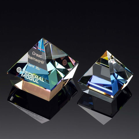 Prism Double Pyramid Paperweight
