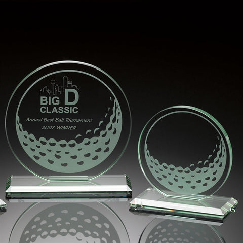 Jade Glass Golf Winner's Circle