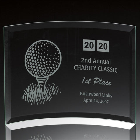 Jade Glass Golf Contour Award