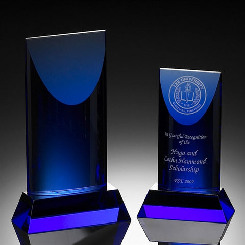 Patina Blue Crystal Award