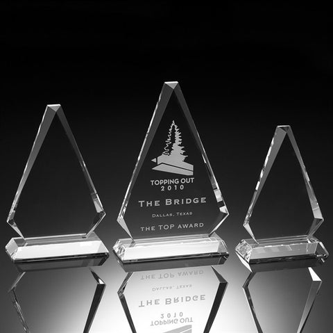 Prestige Triangle Crystal Award