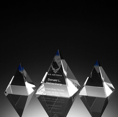 Indigo Pyramid Crystal Award