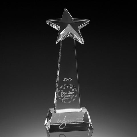 Floating Star Tower Crystal Award