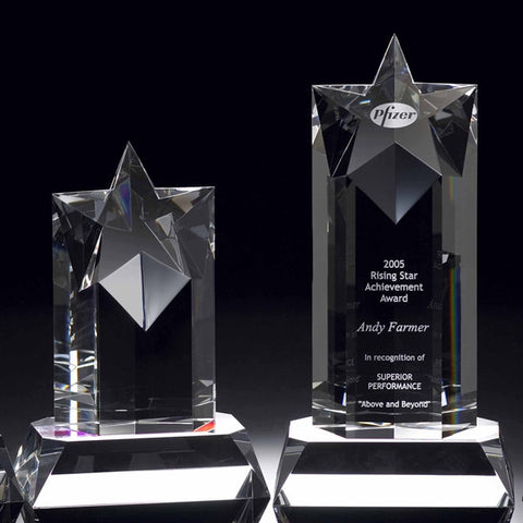 Rising Star Deluxe Crystal Award