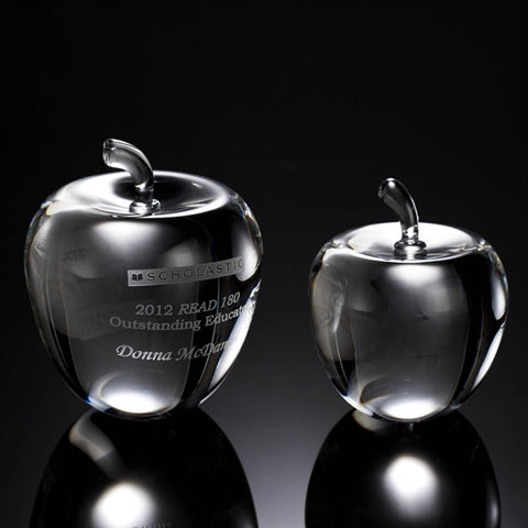 Smooth Apple Crystal Award