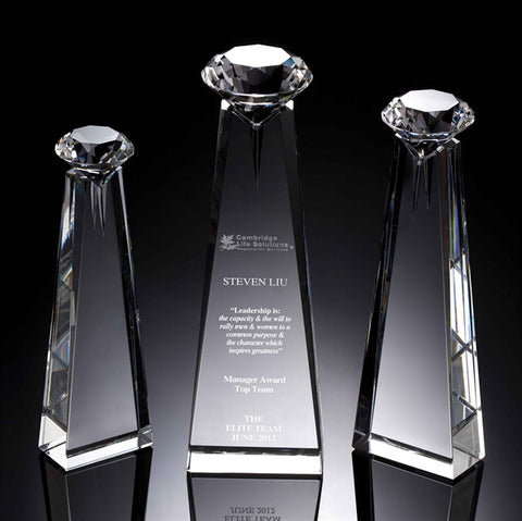 Diamond Goddess Crystal Award