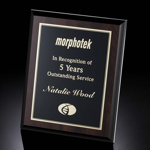 Cherry Finish Plaque with Black Edge
