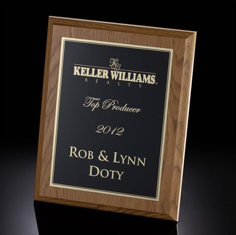 Oak Finish Plaque Series