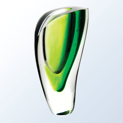 Green Lush Crystal Vase