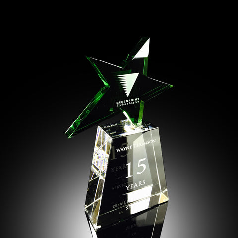 Green Falling Star Award
