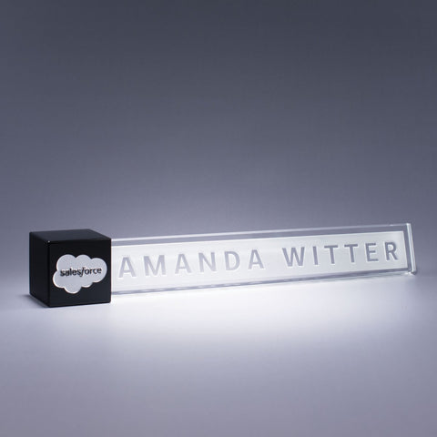 Black Accent Nameplate