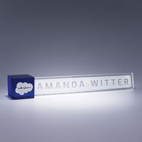 Blue Accent Nameplate