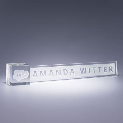 Clear Accent Nameplate