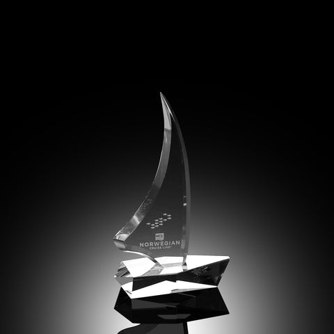 Sailboat Crystal Award