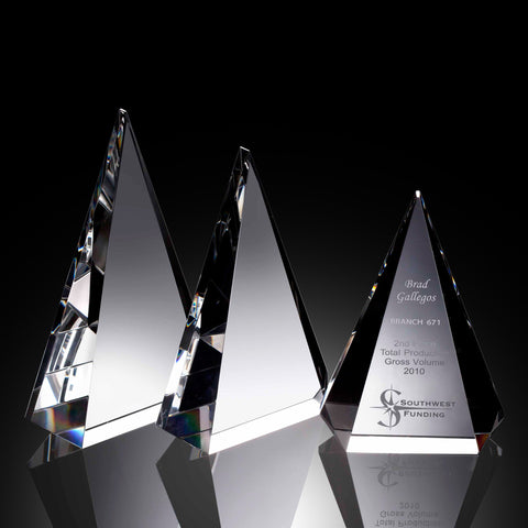 Majestic Triangle Crystal Award